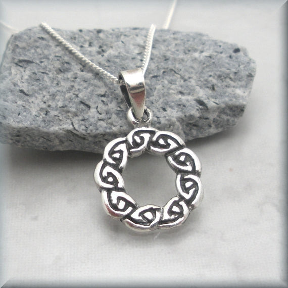 Celtic Wreath Necklace - Celtic Knot Ring - Bonny Jewelry