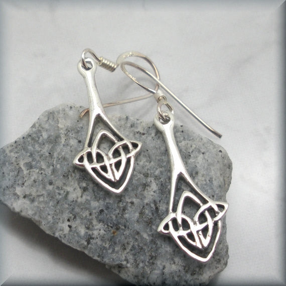 Celtic Knot Teardrop Earrings - Bonny Jewelry