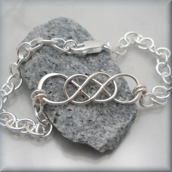 Interlocking Infinity Bracelet