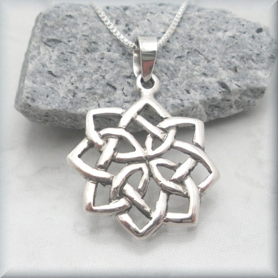 Flower Celtic Knot Necklace