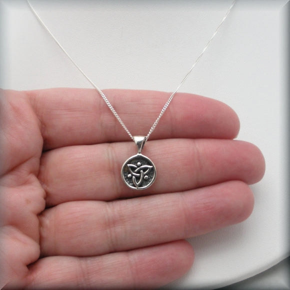 Tiny Trinity Knot Necklace - Triquetra Celtic Knot Jewelry Bonny Jewelry