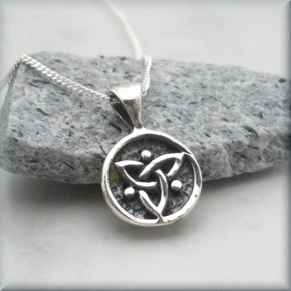 Tiny Trinity Knot Necklace - Triquetra Celtic Knot Jewelry
