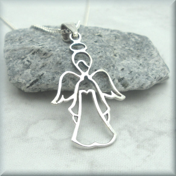 Guardian Angel Necklace (SN893) - Bonny Jewelry