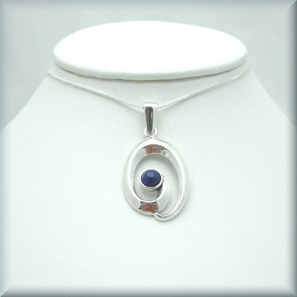Contemporary Lapis Lazuli Necklace - Gemstone Jewelry - Bonny Jewelry