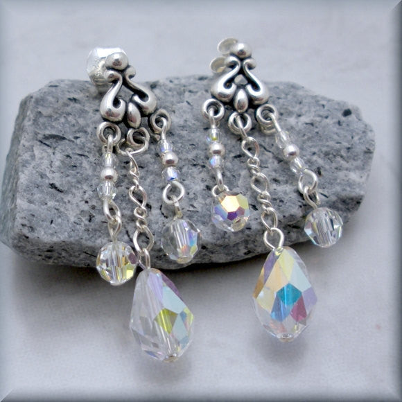 Swarovski Crystal AB Post Earrings - Bonny Jewelry