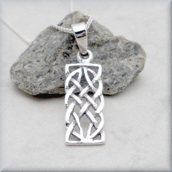 Rectangle Celtic Knot Necklace - Celtic Knotwork