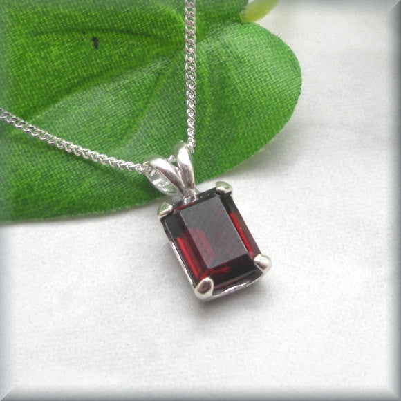 Garnet Necklace - January Birthstone - Gemstone Jewelry - Bonny Jewelry