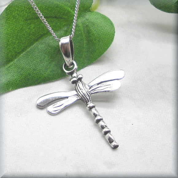 Silver Dragonfly Necklace - Summer Jewelry Bonny Jewelry