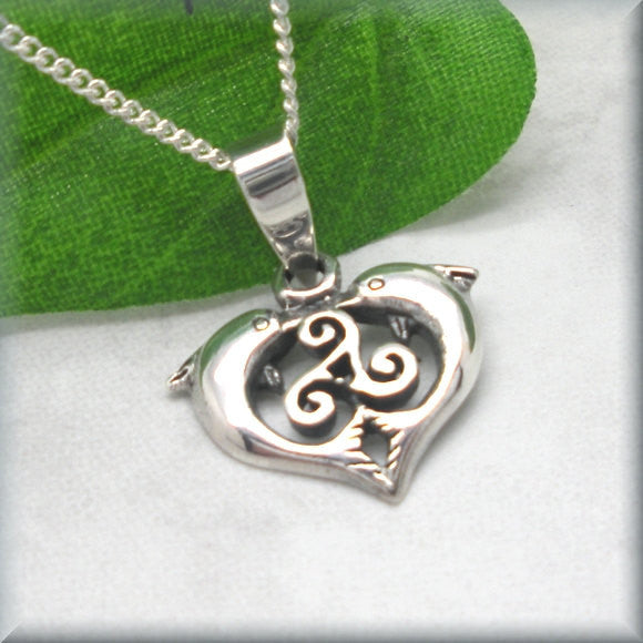 Celtic Triskele Knot Dolphin Necklace - Triskilion