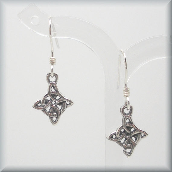 Diamond Shape Celtic Earrings - Bonny Jewelry
