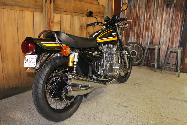 1974 Kawasaki Z1 900 Full Rebuild and Restoration - Green and Yellow - Atlanta Motorcycle Works - Woodstock Georgia - Vintage Motorcycle Repair