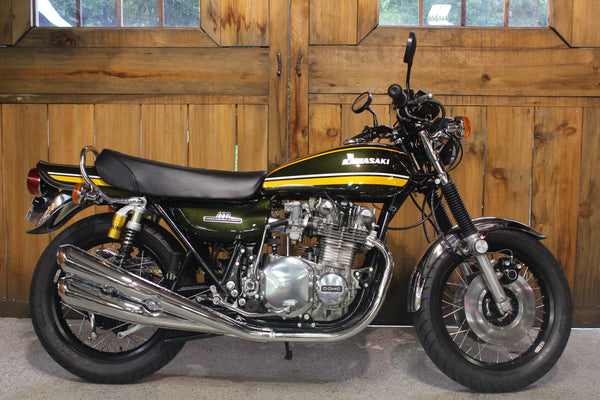 1974 Kawasaki Z1 900 - Best in Show - Green and Yellow - Atlanta Motorcycle Works - Vintage Motorcycle Repair and Restoration - Woodstock Georgia