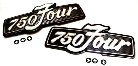 Honda CB750 1975-1977 Side Cover Emblems - 750Four - Atlanta Motorcycle Works - Vintage Replacement Parts