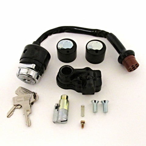Honda Ignition Switch & Lock Set CB350 CB450 CB750 CL350 CL450 SL350 Atlanta Motorcycle Works Vintage Replacement Parts