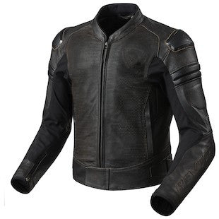 Re'vit! Akira Air Vintage Jackets available in Dark Brown. Make sure your ride is comfortable and safe. Atlanta Motorcycle Works, your #1 source for vintage parts and apparel.