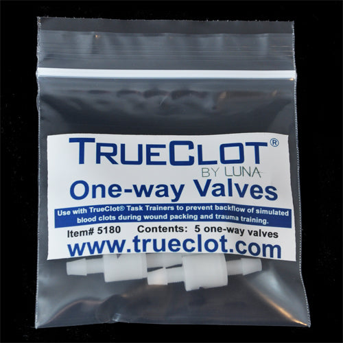 TrueClot® Replacement One-way Valves for Task Trainers - 5 pack (item # 5180)