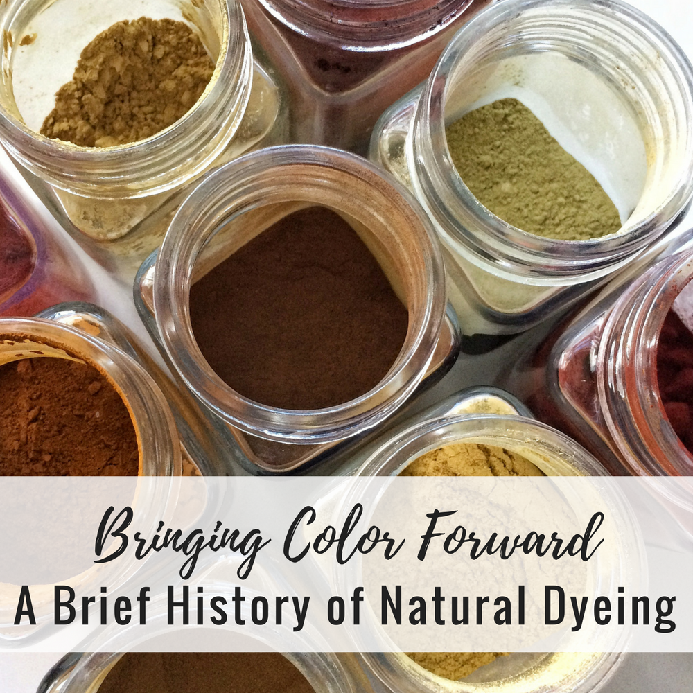 Bringing Color Forward: A (Very) Brief History of Natural Dyeing