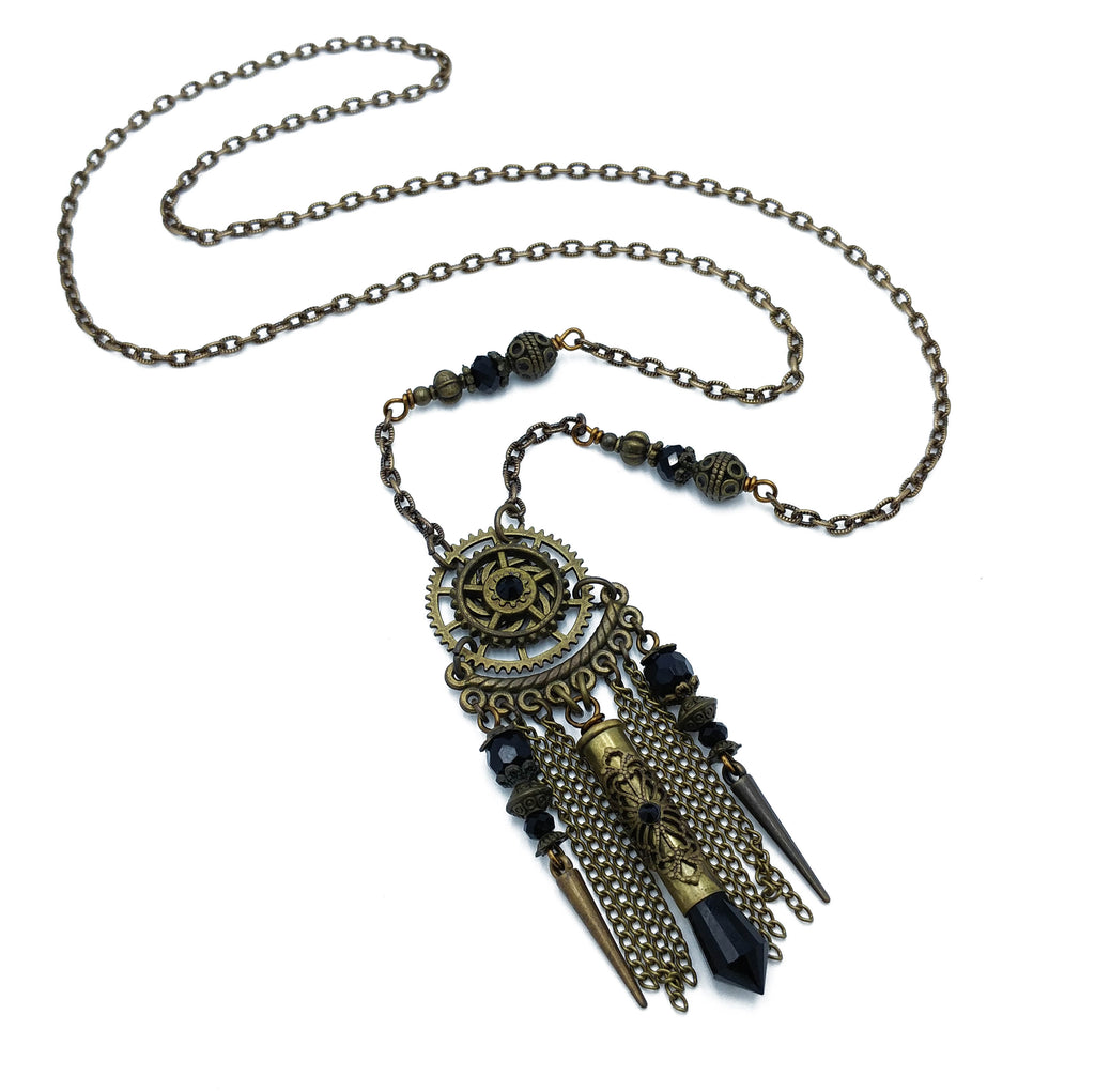 industrial dreamcatcher necklace