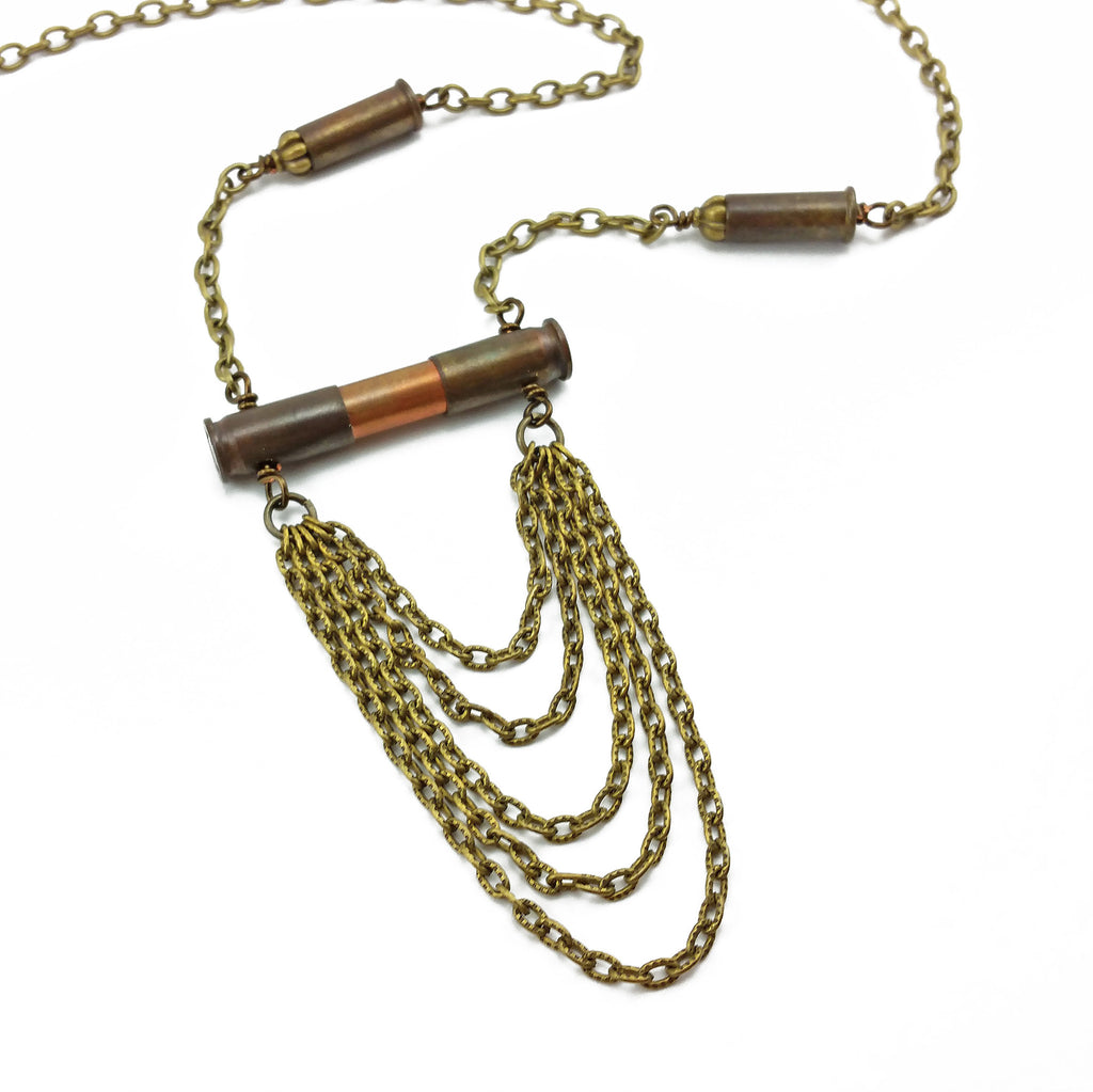 bohemian bullet necklace