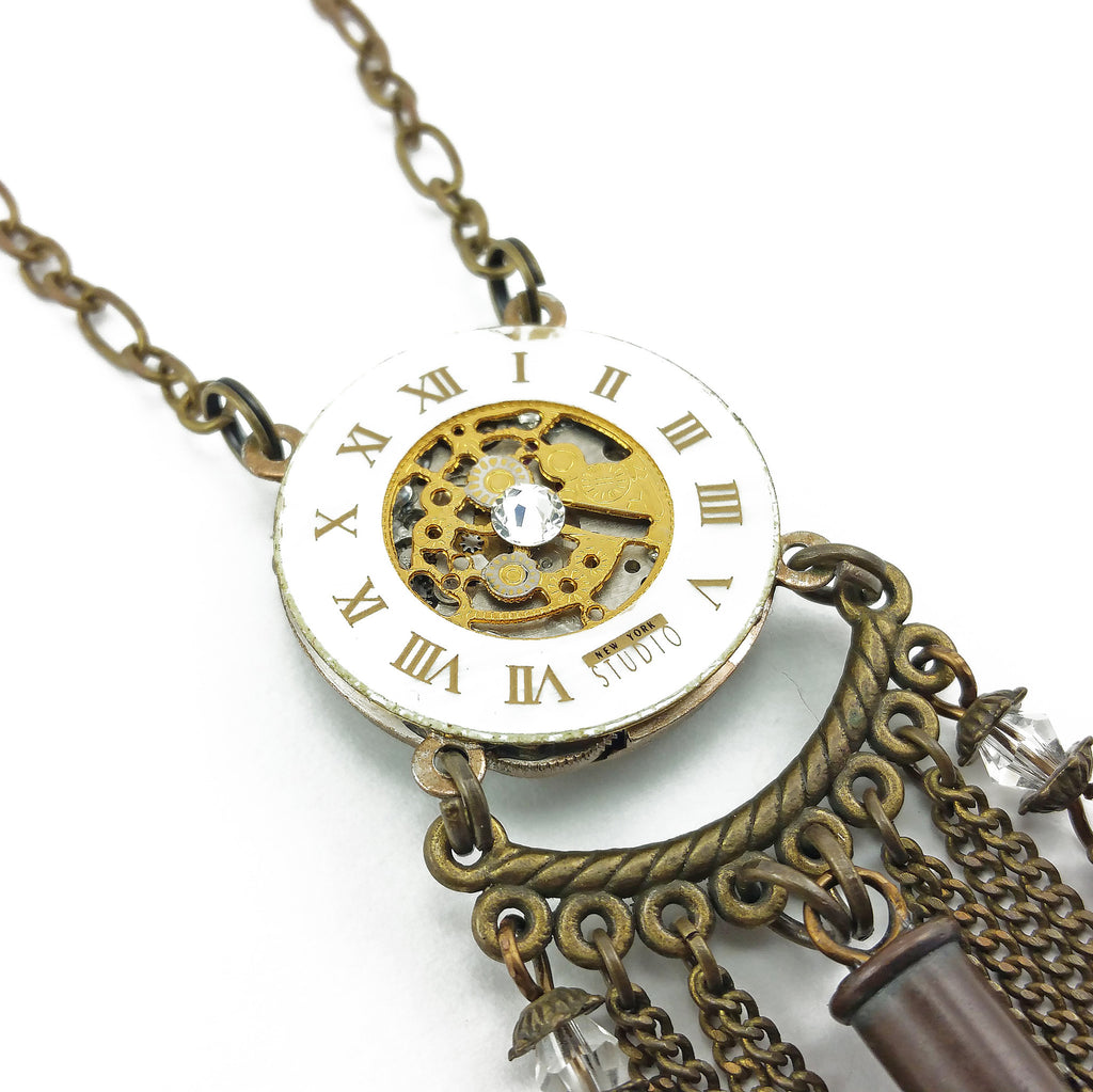 victorian watch movement necklace