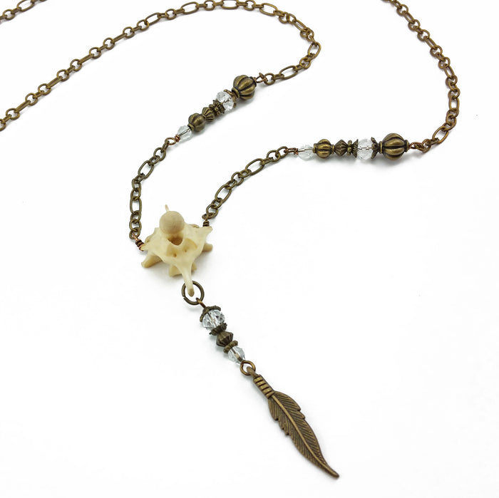 snake vertebrae oddities necklace