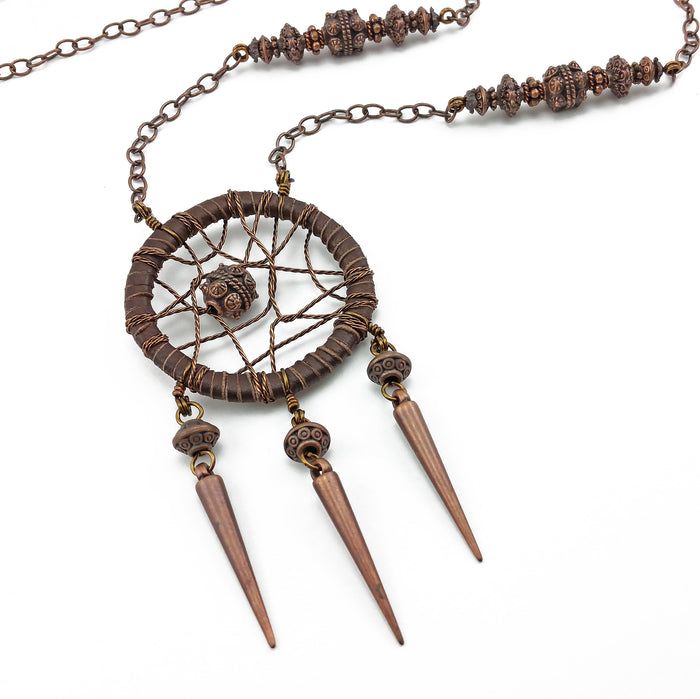 bohemian dreamcatcher necklace