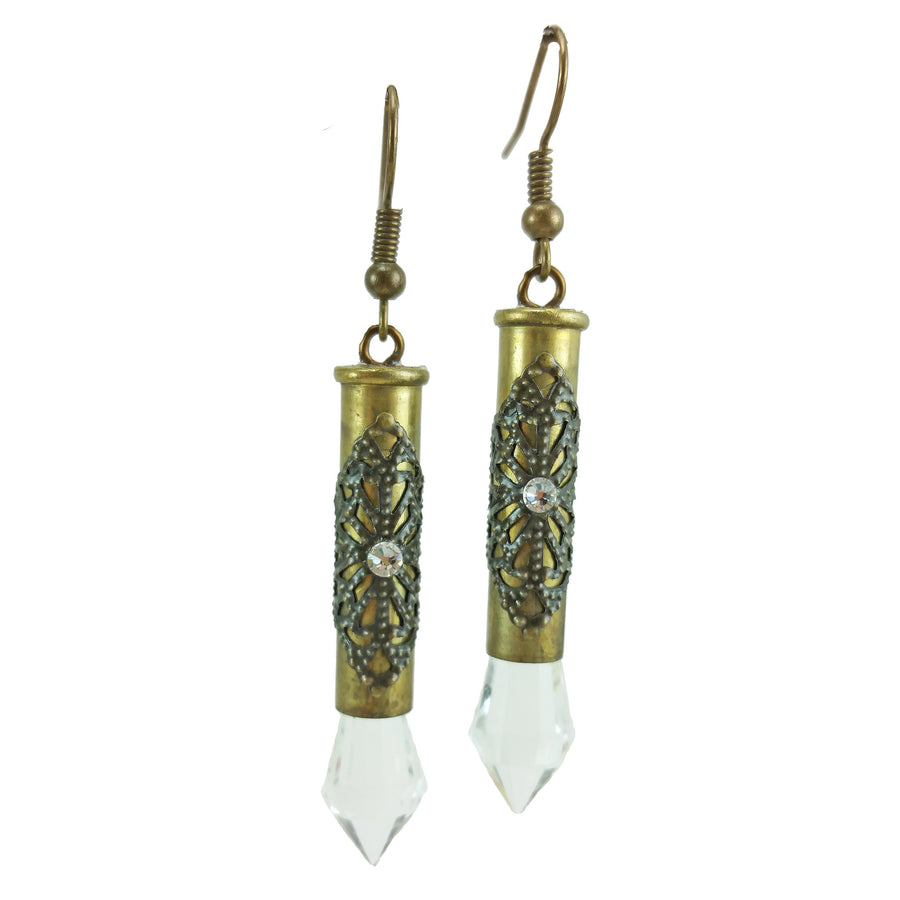 22 Magnum Brass Earrings