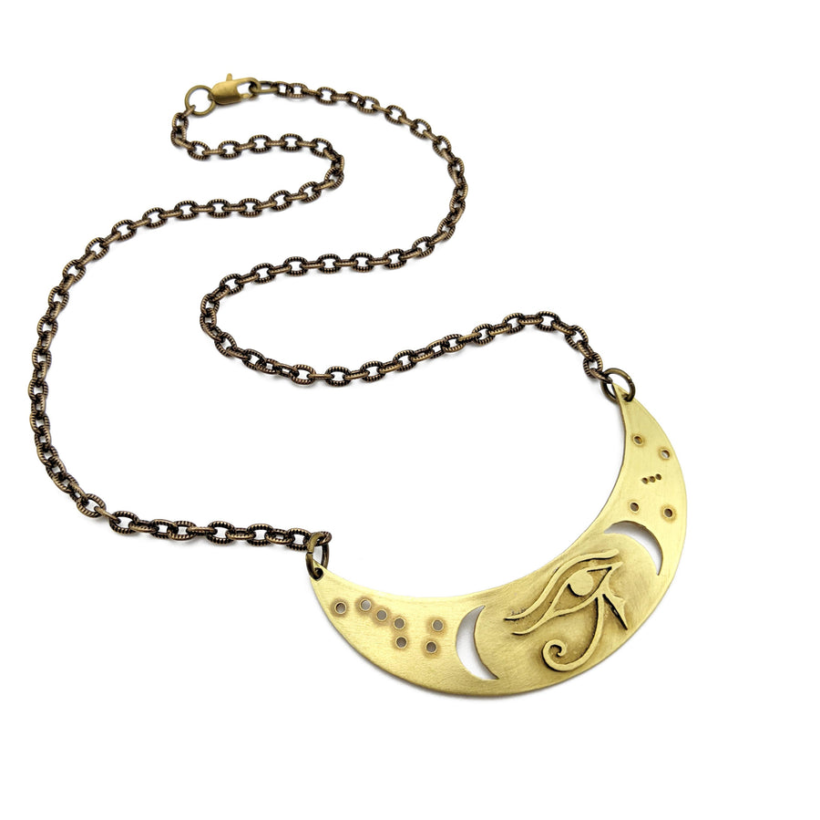 eye of horus crescent necklace
