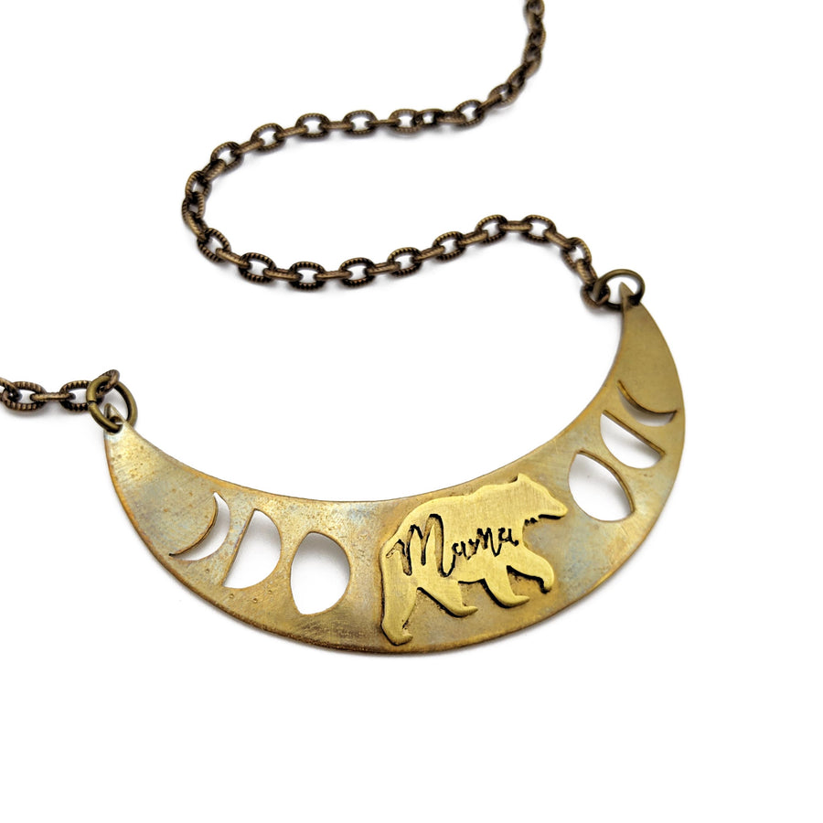 mama bear crescent necklace