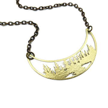 among the pines crescent necklace