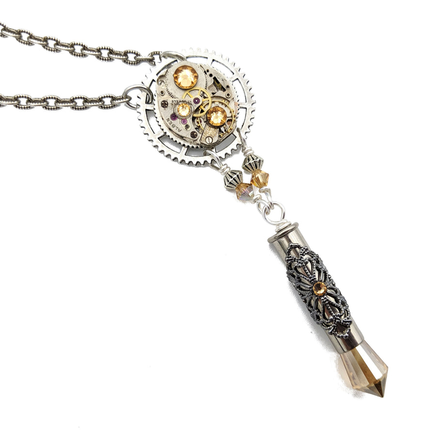 industrial watch movement necklace