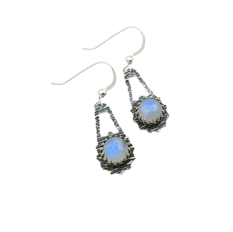 ** RESERVED FOR MARISSA ** Sterling Silver Earrings with Moonstone