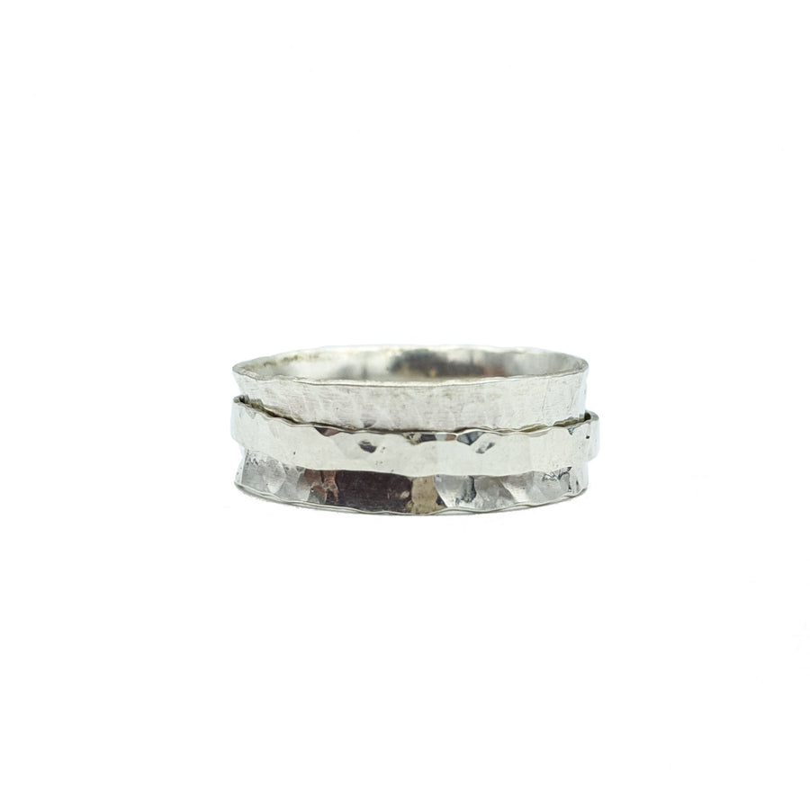 Sterling Silver Spinner Ring - Size 8