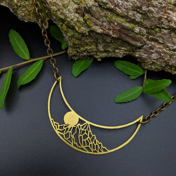 alpine crescent necklace