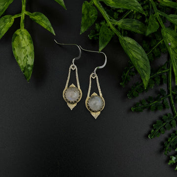 Hammered Sterling Silver Teardrop Earrings