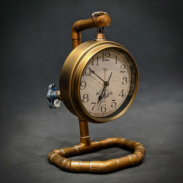 Industrial Copper Clock