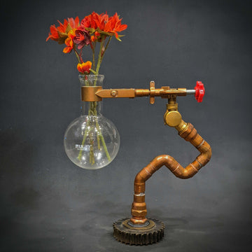 Steampunk Copper Vase