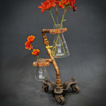 Industrial Double Vase