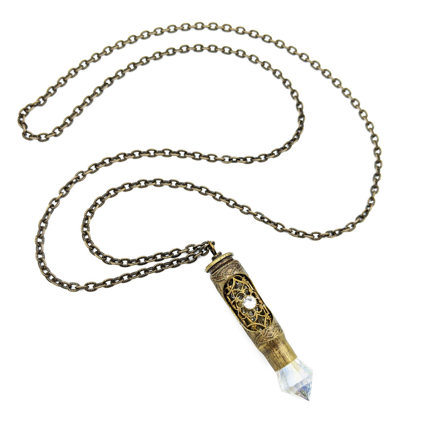 one of a kind recycled bullet necklace