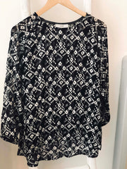 Blouse 03 - Soie black & white (-30%)