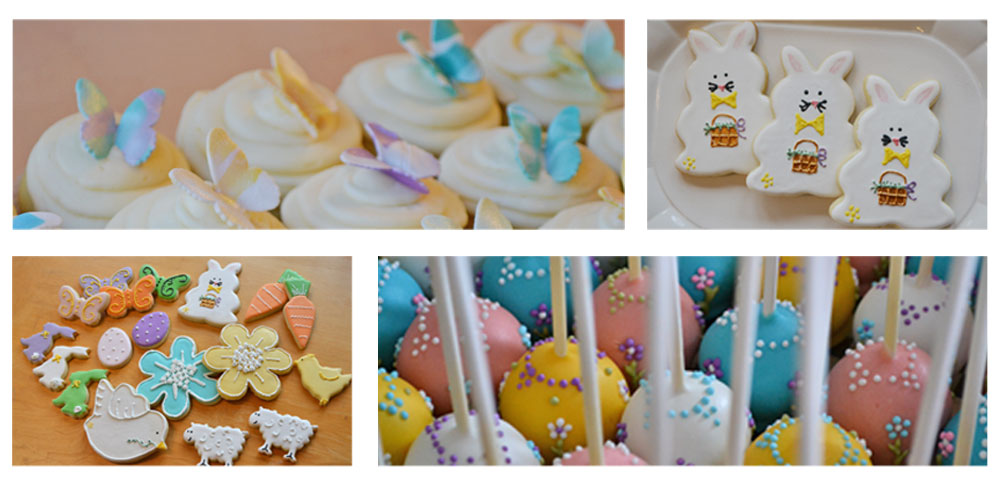 easter spring cakes cookies cake pops