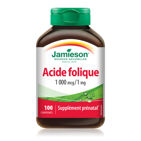 Acide folique 1 000 mcg / 1 mg