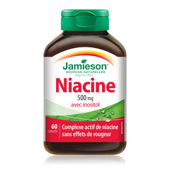 Niacine 500 mg avec inositol — Formule antirougeurs