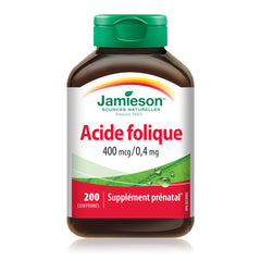 Acide folique 400 mcg / 0,4 mg
