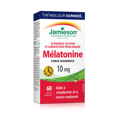 Mélatonine 10 mg à double action - à libération prolongée
