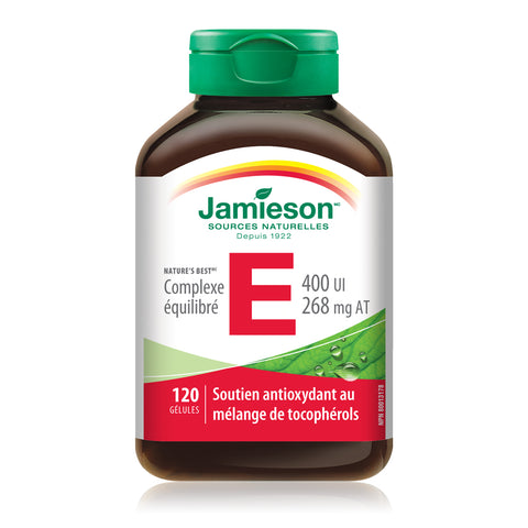 Complexe équilibré de vitamine E 400 UI / 268 mg AT