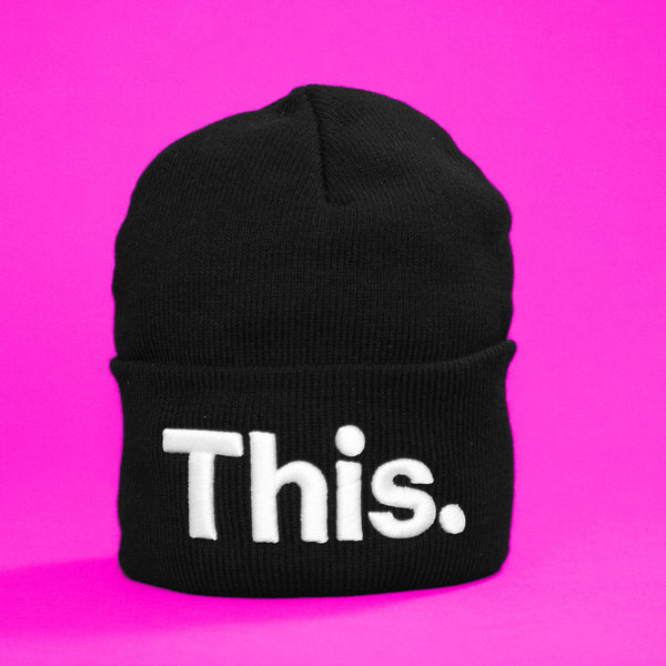 This Beanie (Large Text)