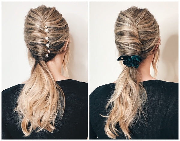French twist ponytail OUAI texturizing hair spray