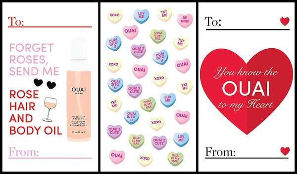 OUAI Valentine's Day grams OUAI Rose Hair & Body Oil