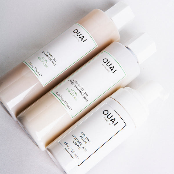 OUAI Air Dry Foam OUAI Curl Shampoo OUAI Curl Conditioner